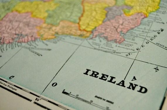 1901 Antique Map of Ireland