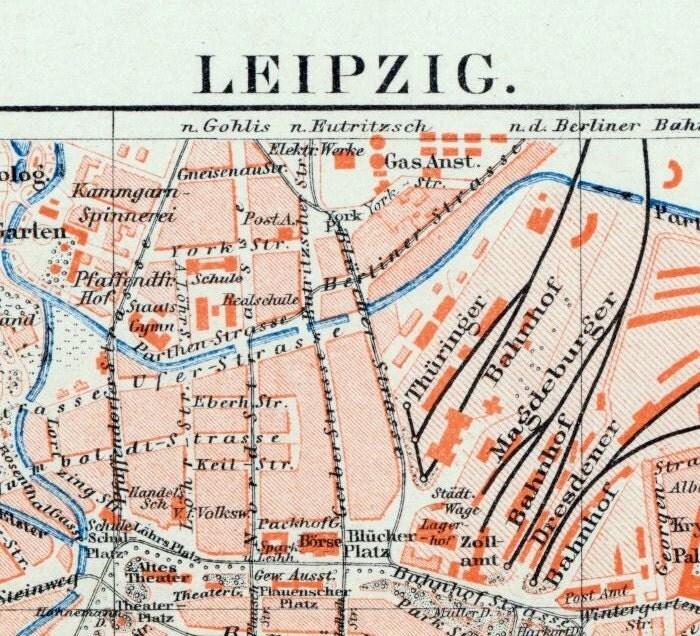 Street map Leipzig