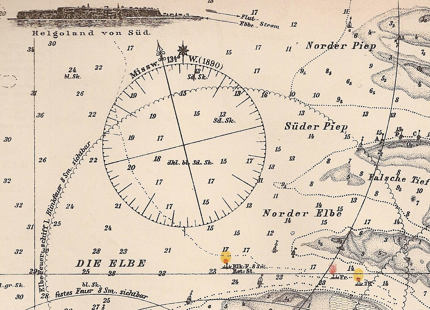 Vintage Nautical Map 53