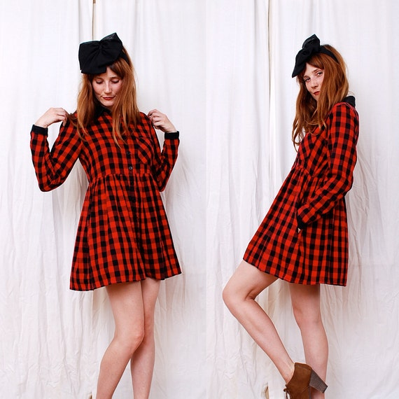Vintage 90s Buffalo Plaid Mini
