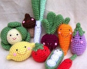 Instand Download Amigurumi Crochet PDF pattern - Organic and fresh from farm