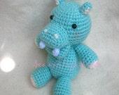 Instant Download Amigurumi Crochet PDF Pattern - Hippo