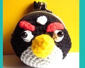 Instant Download Crochet PDF Pattern - Bird Coin purse