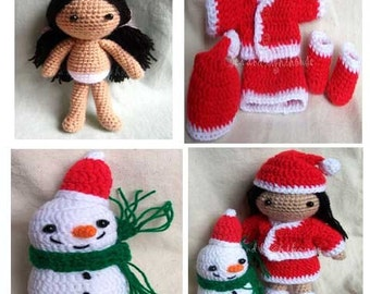 Instant Download PDF Crochet pattern - Santa lina JOY