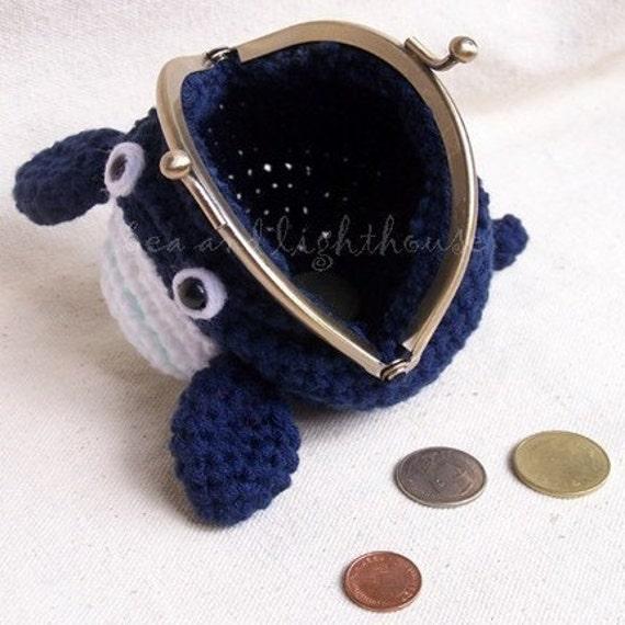Amigurumi Crochet Pattern PDF  - Whale Coin purse, PDF pattern, coin purse