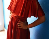 Gorgeous Rust Orange 70s Disco Dress