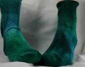 Blue-Green Angora Socks,  size 10-13 Christmas birthday gift