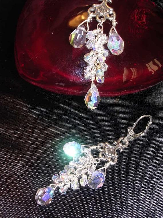 Bridesmaid Sparkling Chandelier Earrings
