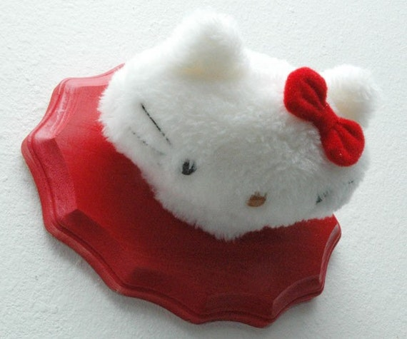 Hello Kitty Red Trophy Head Mount