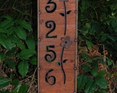 NEW - HOUSE ADDRESS Panel Stake - Rusted Steel - 4 Designs to Choose From