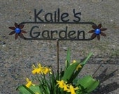 GREAT GIFT - Custom Name Garden Sign with Your Name Personalized PLUS Free Gift