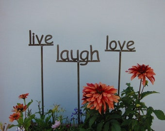 CHOOSE ANY 6 - Garden Poetry Word Signs 6 of your choice - 19 Inches Tall - Sale Price