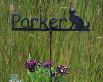 Garden Marker Metal Sign for Pet or Children Memorial sign
