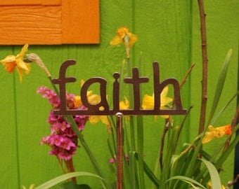 Metal Garden Sign Your choice 53 to choose from...19 Inches Tall