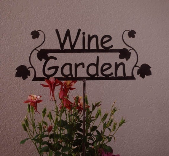 GREAT GIFT for the Wine Lover  - Wine Garden Sign