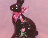 Ceramic Chocolate Easter Bunny Rabbit Fake Food Looks Real