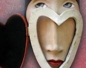 A Change of Heart - Mask Sculpture, Ceramic Wall Art