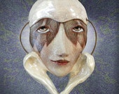 Hold Onto Your Dreams - Ceramic face pendant
