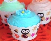 Lil' Hoots Printable Cake Wrappers