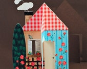 Home Sweet Home - printable 3D House Card, Envelope, Gift Tags, Favor