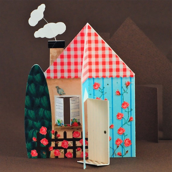 Home Sweet Home - Printable 3D House, Envelope, Gift Tags, Favor