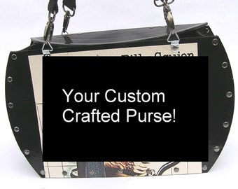 Your Custom Crafted Record Album Purse