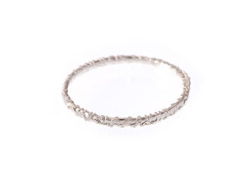 Stacking Ring Single unique Textured