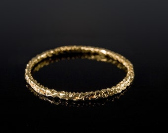 Gold Moonrays texture Ring