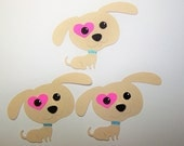 Puppy, Puppy Love, Dog, Canine, Woof, Bark Bone, Heart, Pet Lover, Tan, Paper Piecings, Scrapbooking, Card Toppers, Favor Tags, Pup, Tails