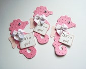 Seahorse, Its a Boy, Its a Girl, Sealife, Ocean Life, Fish, Googly Eyes, Embossed, Paper Piecings, Scrapbooking, Card Toppers, Favor Tags,