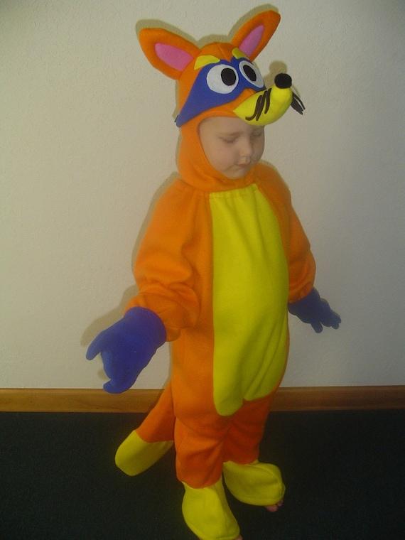 new custom fox halloween costume dora swiper goodie bag 6m to 5 u choose size - Swiper Halloween Costume
