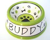 Feed Your Dog in Style - PERSONALIZED Custom Dog Bowl - Paws N' Bones  LARGE