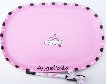 Ceramic Signature  Plate to Welcome New BABY GIRL