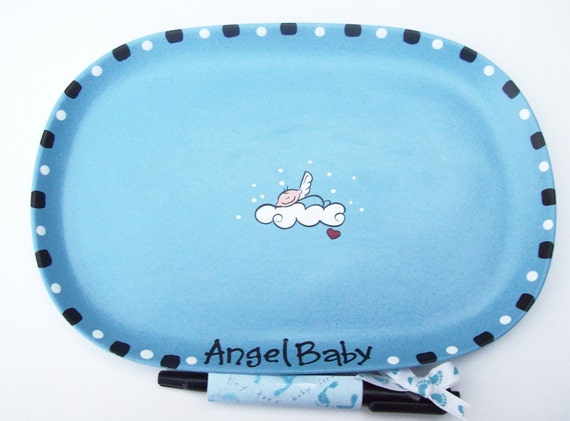Baby shower signature plates ceramic baby shower signature plates