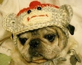 Monkey Sock Hat for Dogs Crochet Pattern Sized for Medium to Large Dogs PDF 102