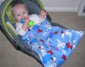Baby Bundle Travel Blanket, PuppyLove design