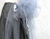 Stormy Gray  Floor Length Fluffy Cloud Bustle Skirt Size 7/8 SALE