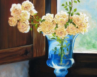 Tuscan Roses Fine Art Painting