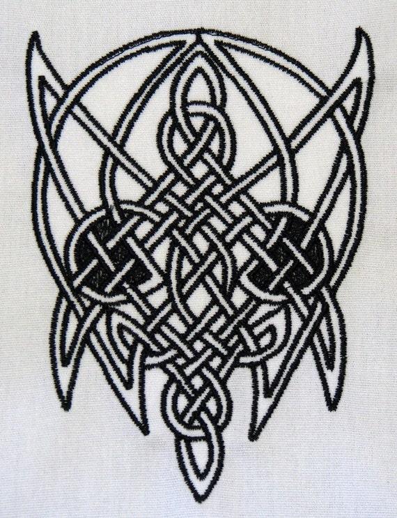 Celtic Skull Embroidered Design