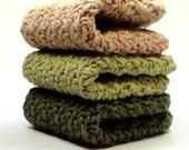 Soft Forest Crochet Washcloths Cotton Crocheted Dishcloths