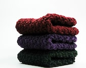 Silky Cotton Crochet Dishcloths or Washcloths Jewel Colors