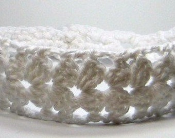 Crochet Lace Headband,  Adjustable Knit Headband, Choose Color