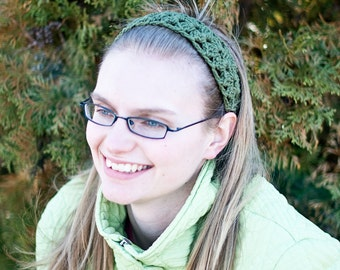 Crocheted Headband, Lace Headband, Adjustable Headband, Color Options Available