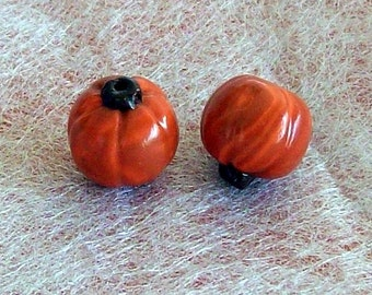 Halloween Pumpkin Polymer Clay Beads MEDIUM Size