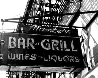Montero's Brooklyn, NY  8 X 10 Print- /Home Decor/ Wall Decor/ Affordable Fine Art/ New York photo print