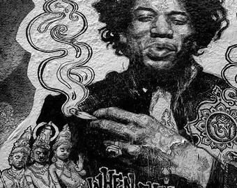 RIP Jimi Hendrix - DUMBO, Brooklyn   11 X 14 Print