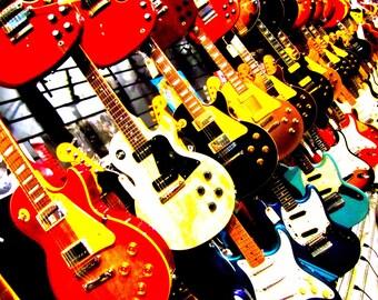 "I Love Guitars - Love Series 4 - 8 X 10"" Photo Print /Home Decor,/ Wall Decor/ Affordable Fine Art"