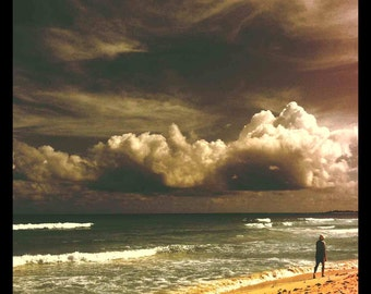 Dark Cloud- Yucatan Peninsula, Mexico /  10 X 10 Photo Print/ Affordable Home Decor/ Fine Art Photography/ Fall Decor
