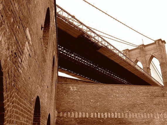 Brooklyn Bridge - DUMBO 16 x 20 Canvas Print / In Stock/Home Decor/ Wall Decor/ Affordable Fine Art/ New York photo print