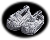 Vintage Mary Jane Baby Bootee Crochet Pattern.....Instant Dowload PDF........J266